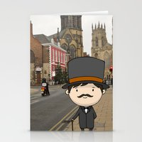 gentleman Stationery Cards featuring Gentleman by Hyerin Ha