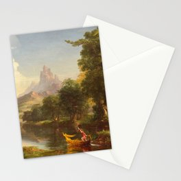 The Voyage of Life Youth Painting by Thomas Cole Stationery Cards