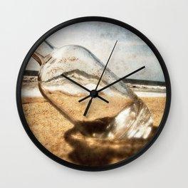Bottle On Beach II Wall Clock