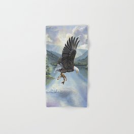 Eagle with Fish Hand & Bath Towel