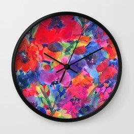 Spring Tulip Garden Wall Clock
