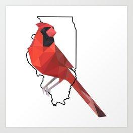 Illinois – Northern Cardinal Art Print