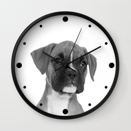 Boxer Pup Wall Clock