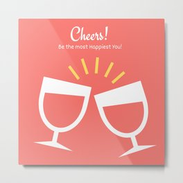 New Year Cheers! Metal Print