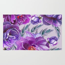 Violet and Purple Flowers Rug