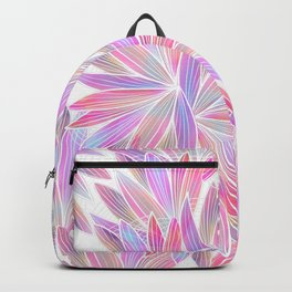 Trendy girly pink lavender coral watercolor floral Backpack