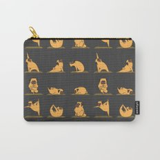 Pug Yoga // Black Carry-All Pouch