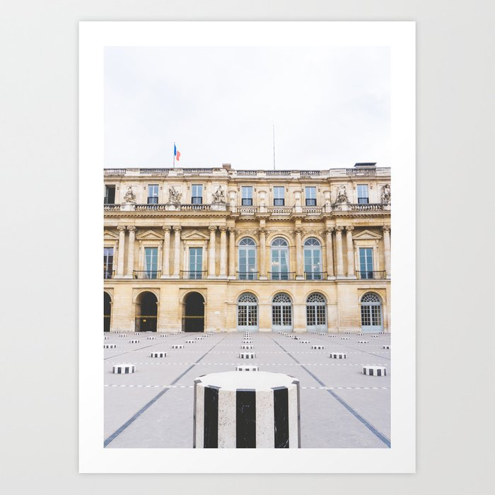 Buren's Columns, Le Palais Royal Courtyard, Paris, France Art Print