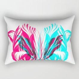 Double Flower Rectangular Pillow