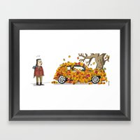 Autumn has landed. Framed Art Print