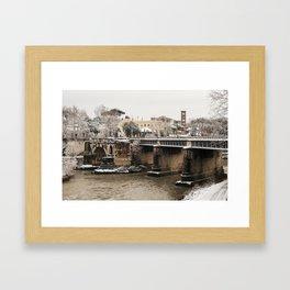 Untitled (Roman Snowday) Framed Art Print