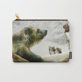 Bear, Squirrel and Kitten Carry-All Pouch