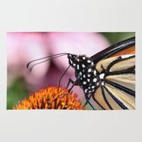 dentist Area & Throw Rugs featuring Monarch Macro by IowaShots