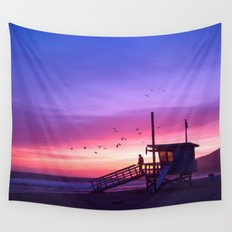 Sunset Tower Wall Tapestry