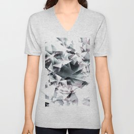 Modern Black and White Diamond Abstract Geometric Unisex V-Neck