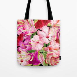 Tropical Power Flowers Tote Bag