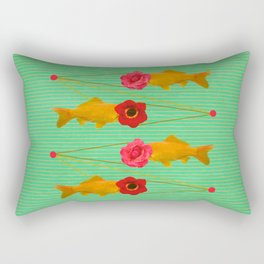 fishes and flowers Rectangular Pillow