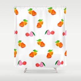Jambu II (Wax Apple) - Singapore Tropical Fruits Series Shower Curtain
