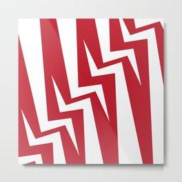 Stairway Series - Red Metal Print