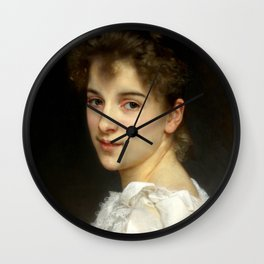 "William-Adolphe Bouguereau ""Portrait of Gabrielle Cot"" Wall Clock"