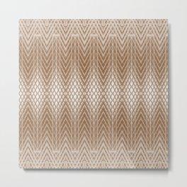 Cool Elegant Frosted Mocha Geometric Design Metal Print
