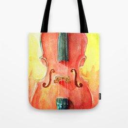Cello in Red Tote Bag