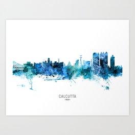 Calcutta Kolkata India Skyline Art Print
