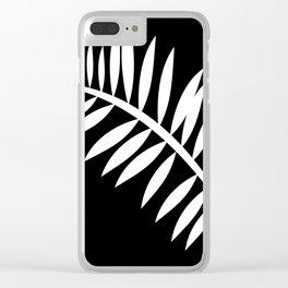 PALM LEAF WHITE LEAF Clear iPhone Case