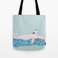 Whale beacon Tote Bag