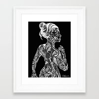 maori Framed Art Prints featuring Opposite Maori by SarinneG