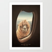 goat Art Prints featuring QUÈ PASA? by Monika Strigel®