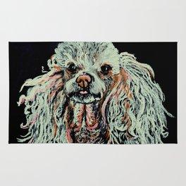 Toy Poodle portrait Rug