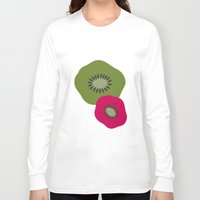 kiwi Long Sleeve T-shirts featuring kiwi by HeartWork Brand