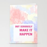 motivation Stationery Cards featuring motivation by CassandraHope