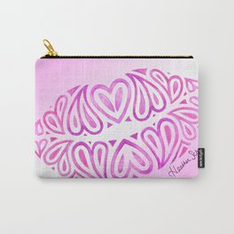 Mer's Tribal Heart Lips Carry-All Pouch