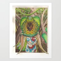 The Serpent Witch Art Print