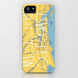 Mississippi Gulf Coast Map iPhone Case