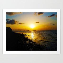 Seashore Serenity at Sunset Art Print