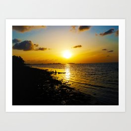 Seashore Serenity at Sunset Art Print