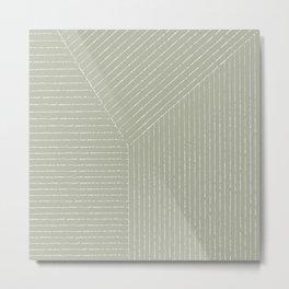 Lines (Linen Sage) Metal Print