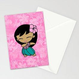 Aloha Honeys Hawaiian Hula Girl Cartoon Stationery Cards