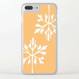 Simple snowflake Clear iPhone Case