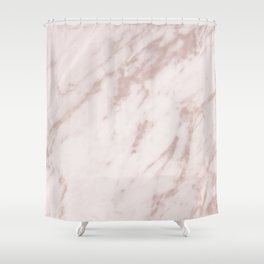 Real Rose Gold Marble Shower Curtain