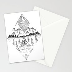Mountain Camping Stationery Cards