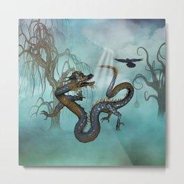 Asian dragon Metal Print