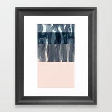 pastel greys Framed Art Print