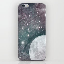 Cosmic Blue and Purple Sky with Moon  iPhone Skin