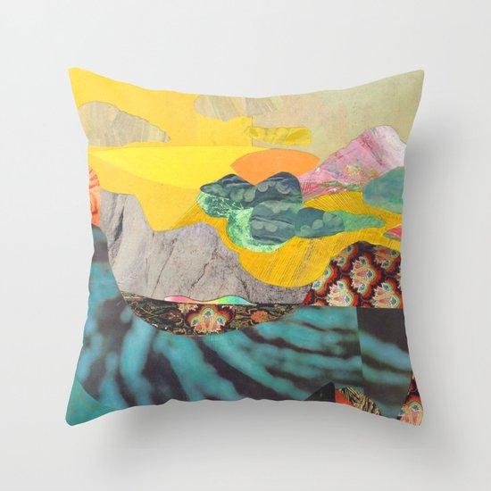 Yellow Sky Throw Pillow