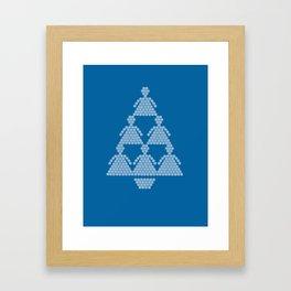 Angel Snowflake Christmas Tree Framed Art Print