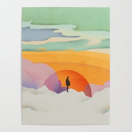 I Like to Watch the Sun Come Up - (White Version) Poster